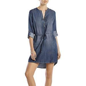 Lucky Brand | Denim Chambray Popover Dress Medium